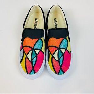 NWOB Bucketfeet Stain Glass Heart Slip On Sneakers